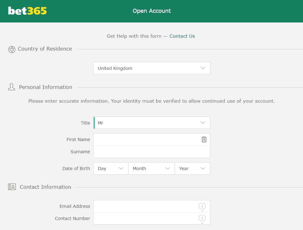 bet365 regisration sign up