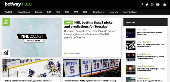 Betway design usability