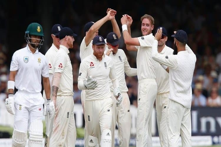 England End Day Two, With Stuart Broad and Moeen Ali Having Picked Up Two Wickets Each, In the First Test Against South Africa, 2017.