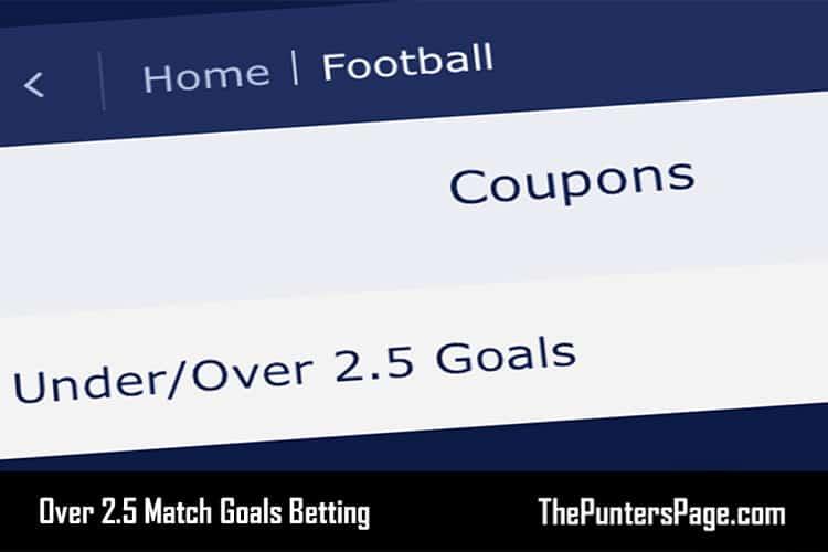 Over 2.5 match goals betting