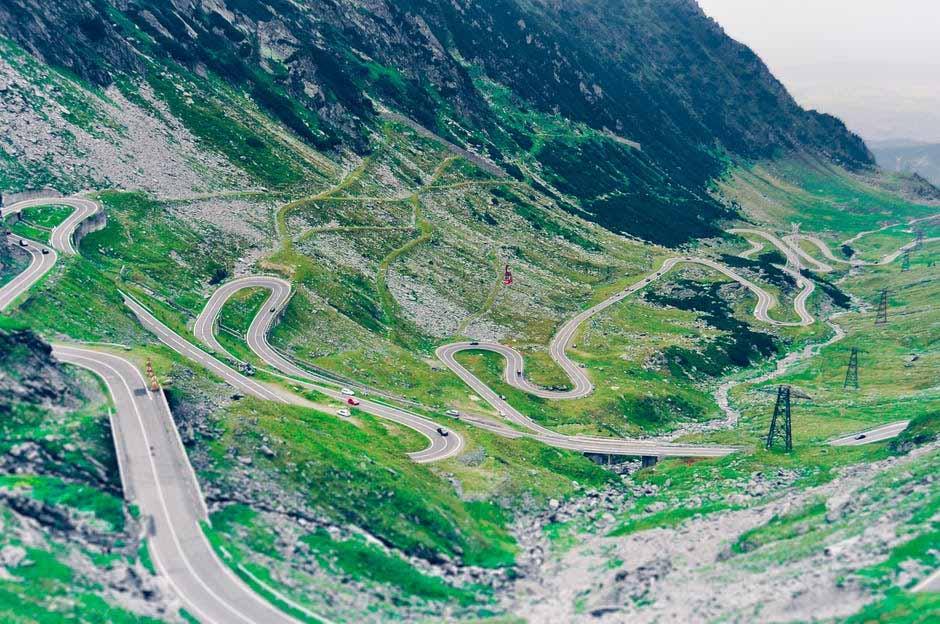 Romania Winding Road