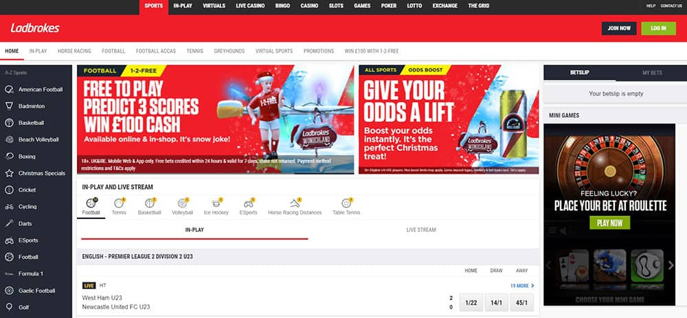Landing Page Ladbrokes Sportsbook - What is a Bookmaker
