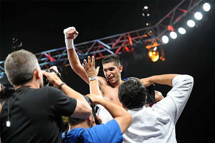 Amir Khan Celebrating After Win - Boxing Matches 2020