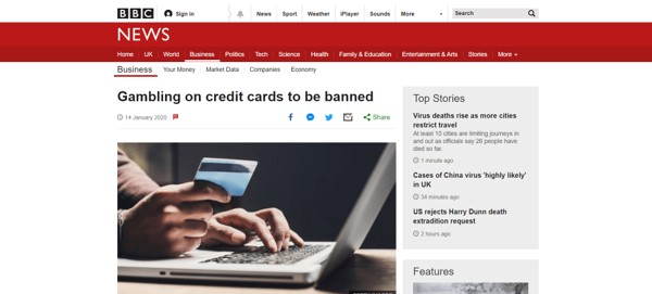 BBC News Article On Credit Card Ban