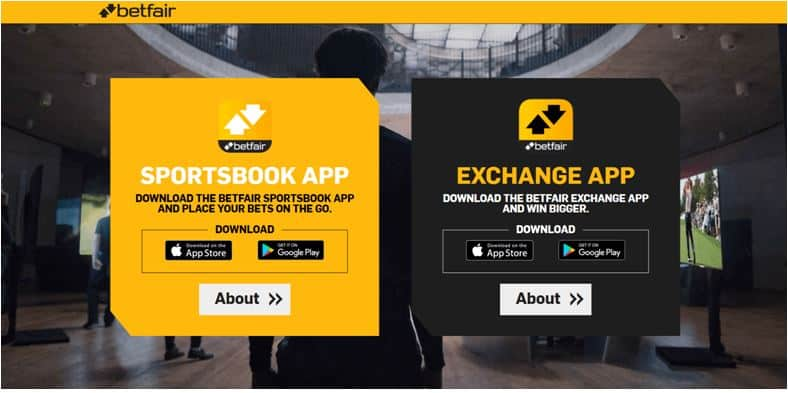 Betfair Mobile Page
