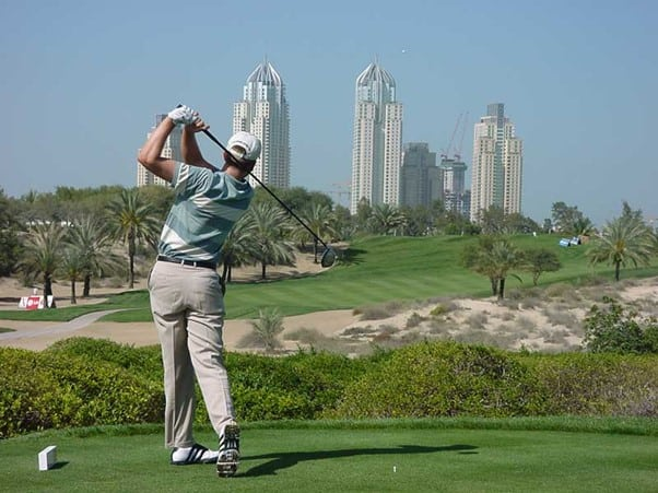 Dubai, golf