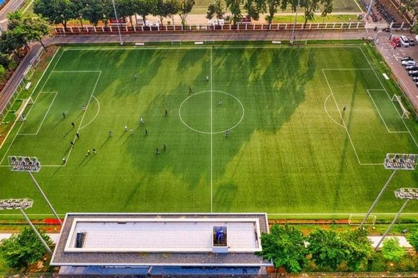 Aerial Shot of a Football Pitch