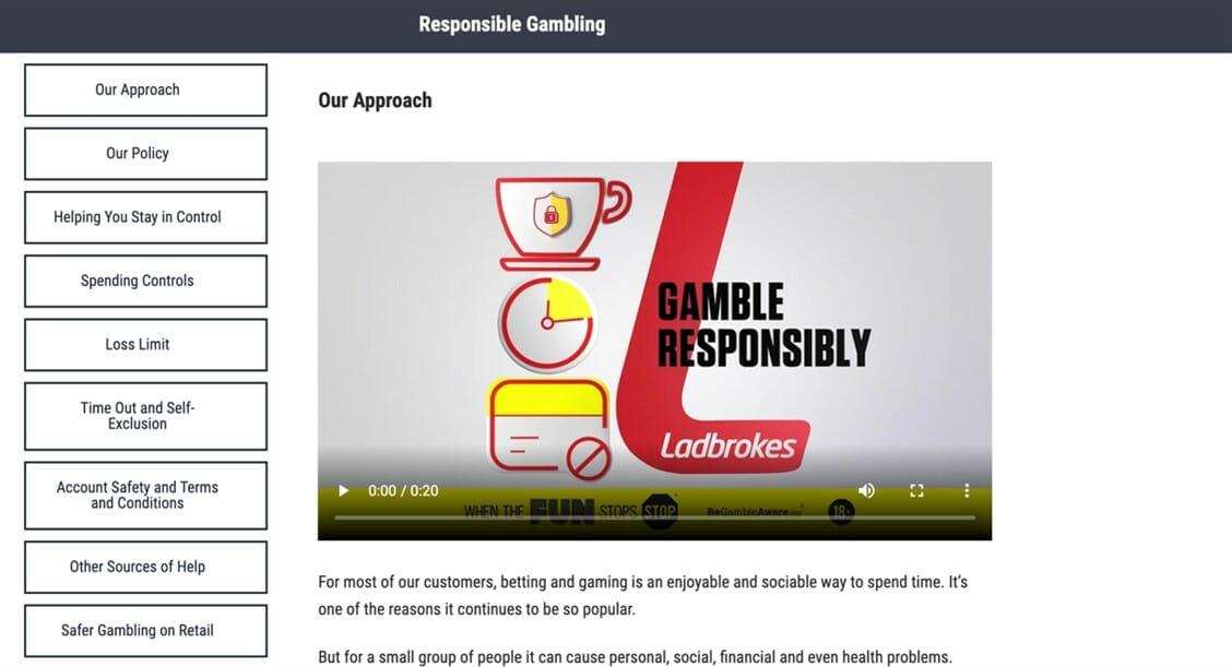 Ladbrokes Responsible Gambling