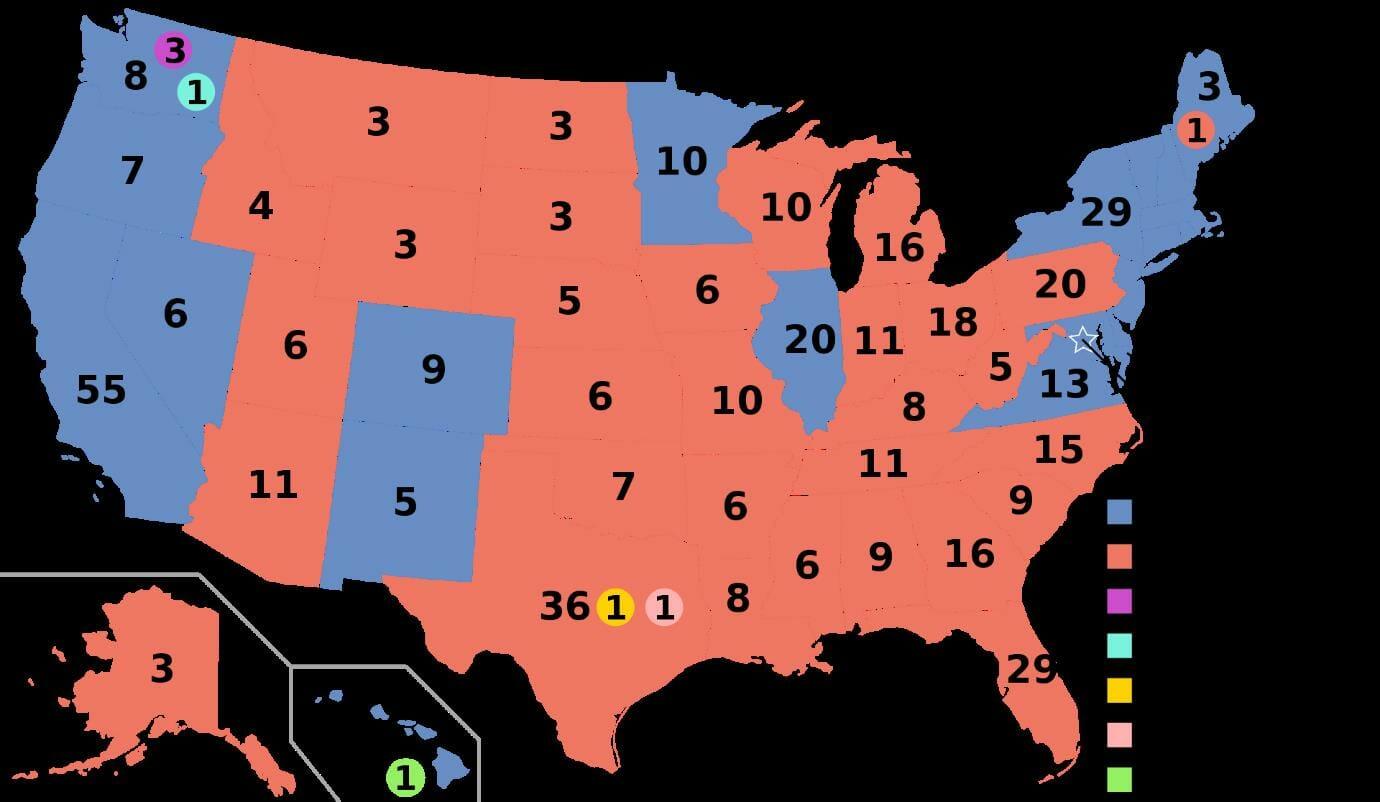 US Electoral College 2016