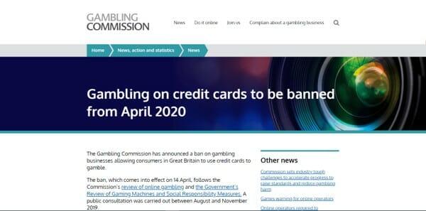 Gambling Commission Website
