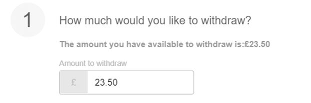 Withdrawal option on 888sport account