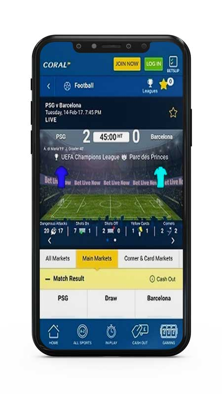 coral mobile betting app