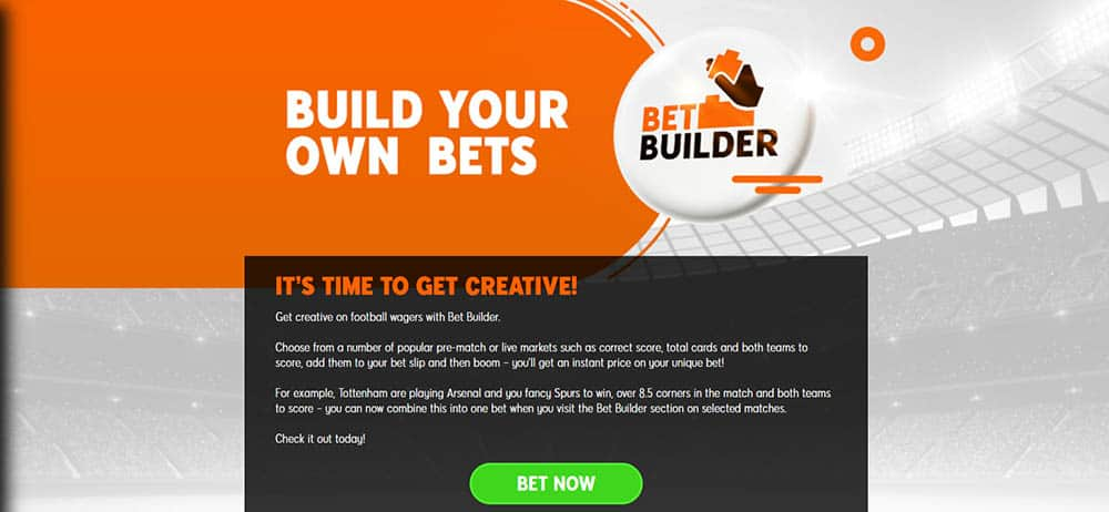 888Sport Bet Builder promotion - New UK Bookmakers