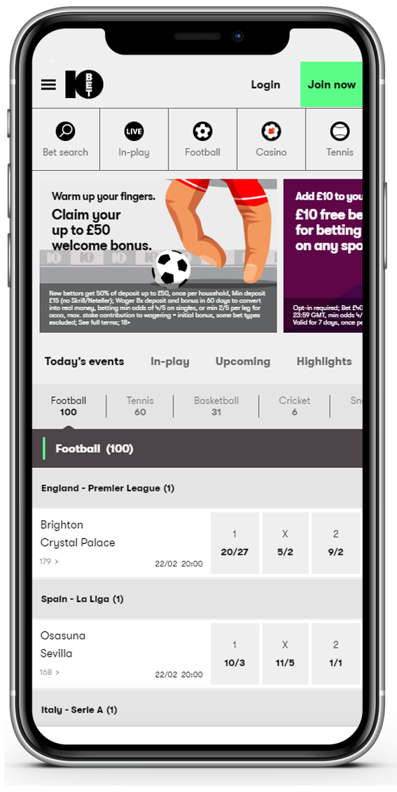 10bet mobile