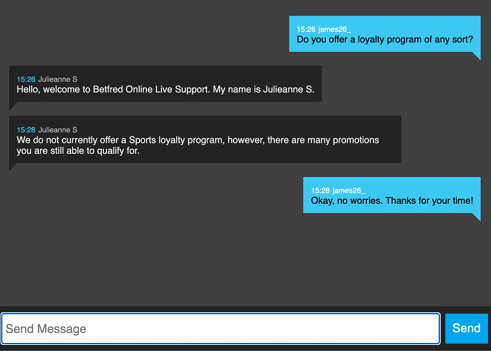 Betfred Live Chat