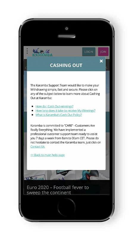 Karamba-mobile-cash-out