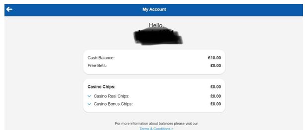 Betfred My Account