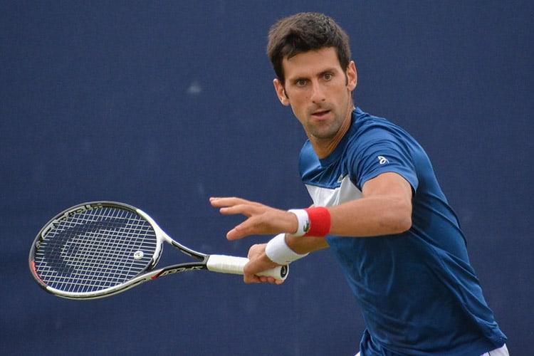 Djokovic on the practice court (www.flickr.com | © Carine06)