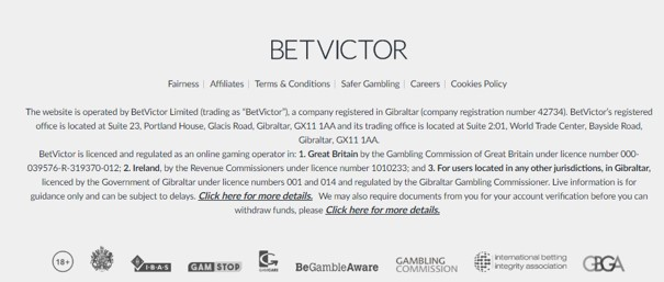 BetVictor Security Example