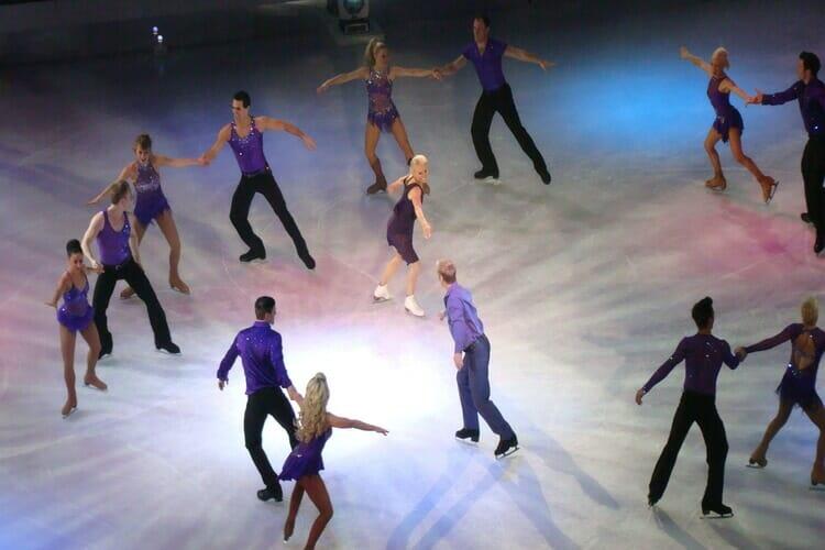 Dancers dancing on ice