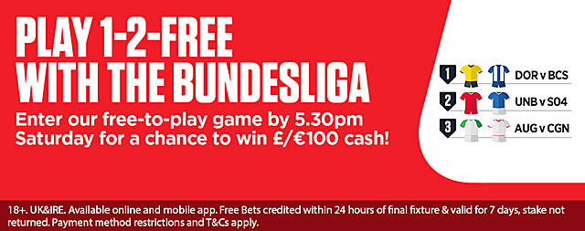 Ladbrokes 1-2-Free with Bundesliga