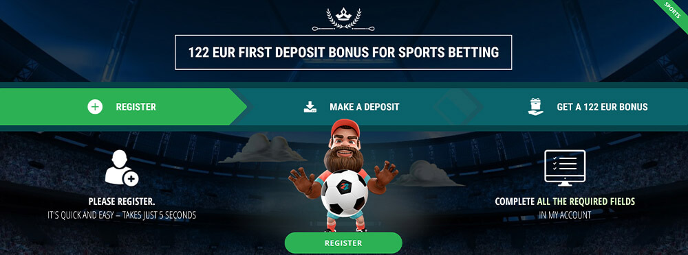 22BET Welcome Offer 2020