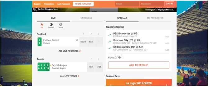Pre Match Offer at LeoVegas