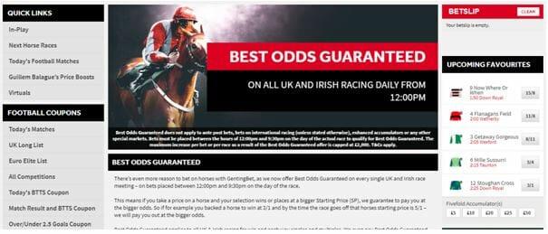 Best Odds Guaranteed at GentingBet