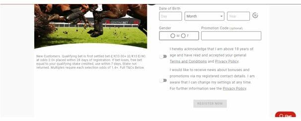 GentingBet Registration Form - Part 3