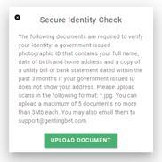 Secure Identity Check on GentingBet