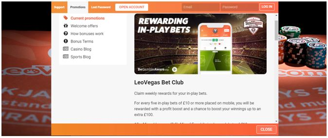 Sportsbook Promotion on LeoVegas