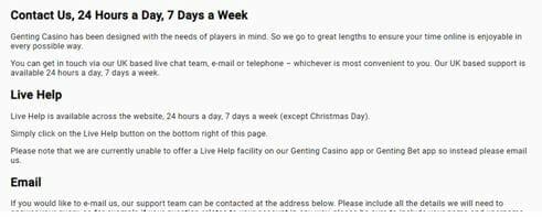 GentingBet Support Details