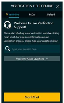 Grosvenor Live Chat Verification Support