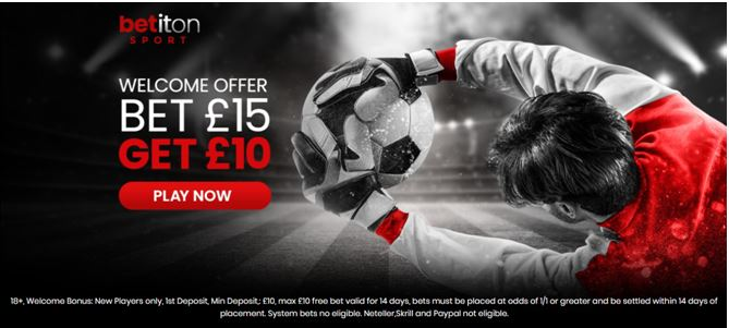 Welcome Offer Bet £15 Get £10 at Betiton
