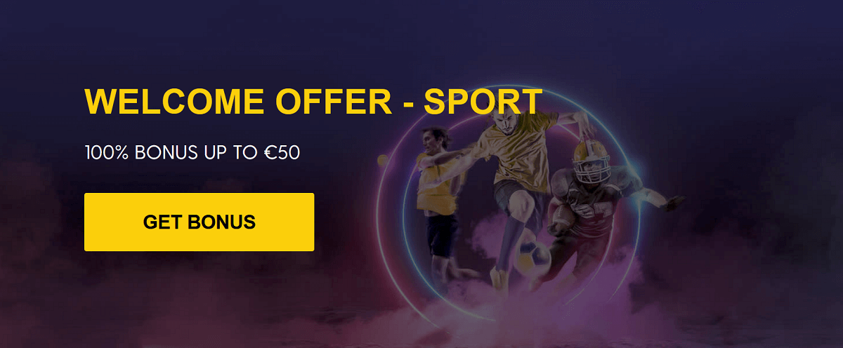 Bethard 100% up to €50 Welcome Offer banner
