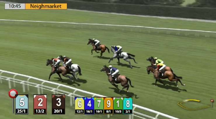 virtual horse race underway at 'Neighmarket'