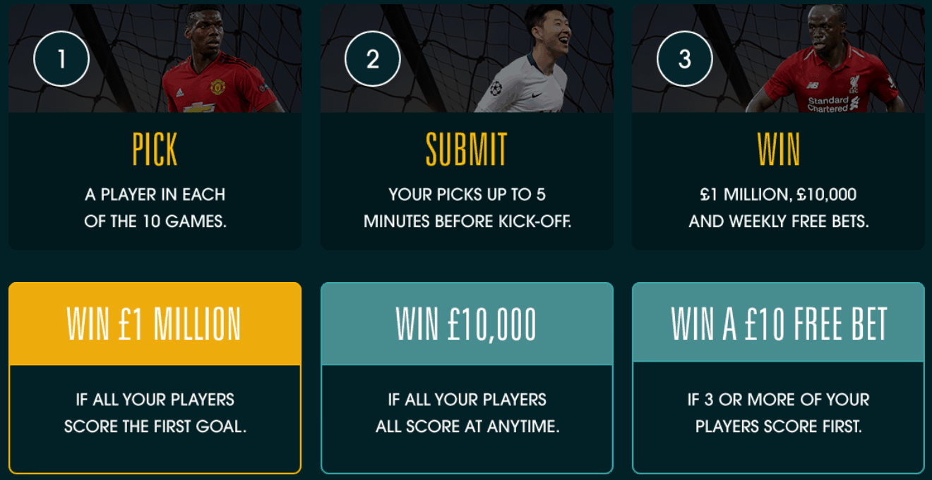 Grosvenor Goals - Pick, submit and Win