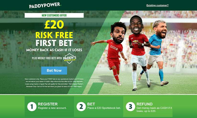 paddy power money back betting promotion