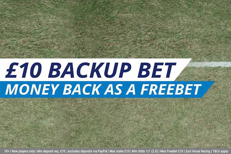 £10 Backup Bet Welcome Offer Banner on Sportingbet