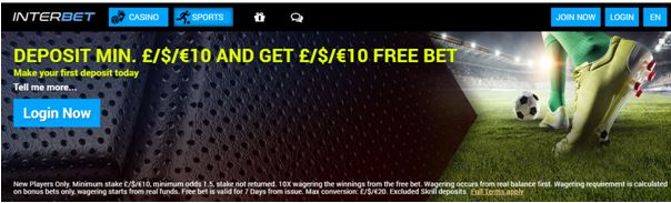 Interbet welcome offer