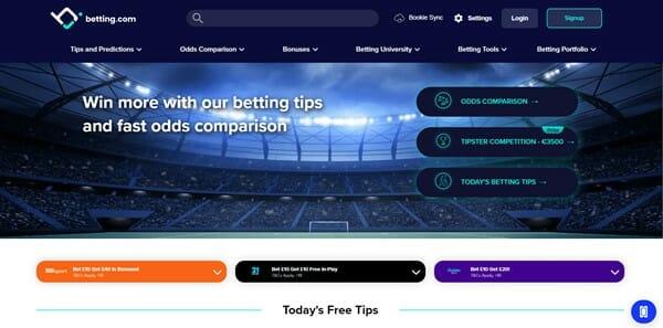 Betting.com Screenshot