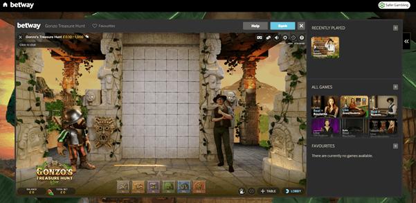 Screenshot Of Gonzo's Treasure Hunt Game Live