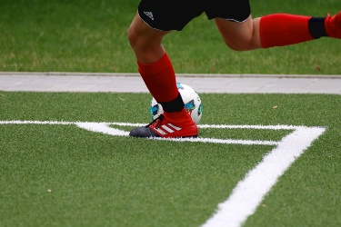 Football player corner kick