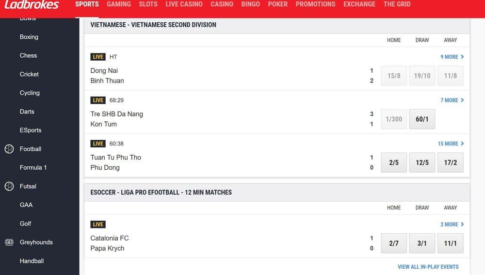 Ladbrokes betting Homepage