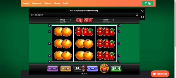 Screenshot Of Leovegas 20P Slot Game