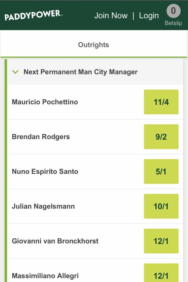 manager betting
