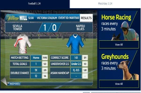 William Hill Virtual Betting