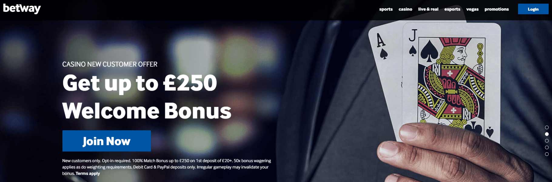 betway online casino welcome offer