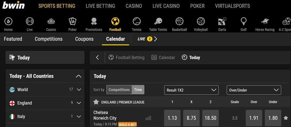bwin sports betting homepage
