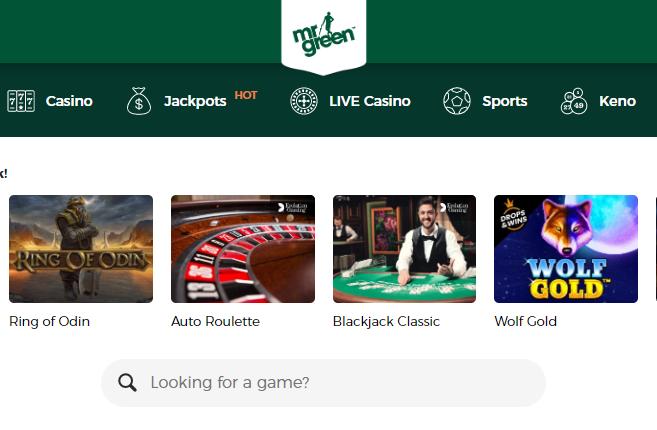 Mr Green screenshot of online slots
